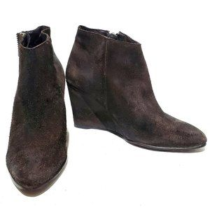 Free People Orlanda Distressed Suede Wedge Boots